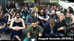 Акция протеста против наступления на свободу слова и блокировки Telegram. Москва, 5 мая 2018 года.