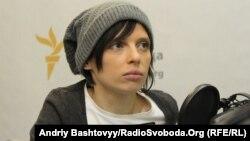 Ірена Карпа у студії Радіо Свобода