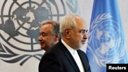 Iranian foreign minister Zarif at the UN headquarters in NY, in July