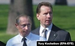 Владимир Путин и Виктор Золотов, 2004 год
