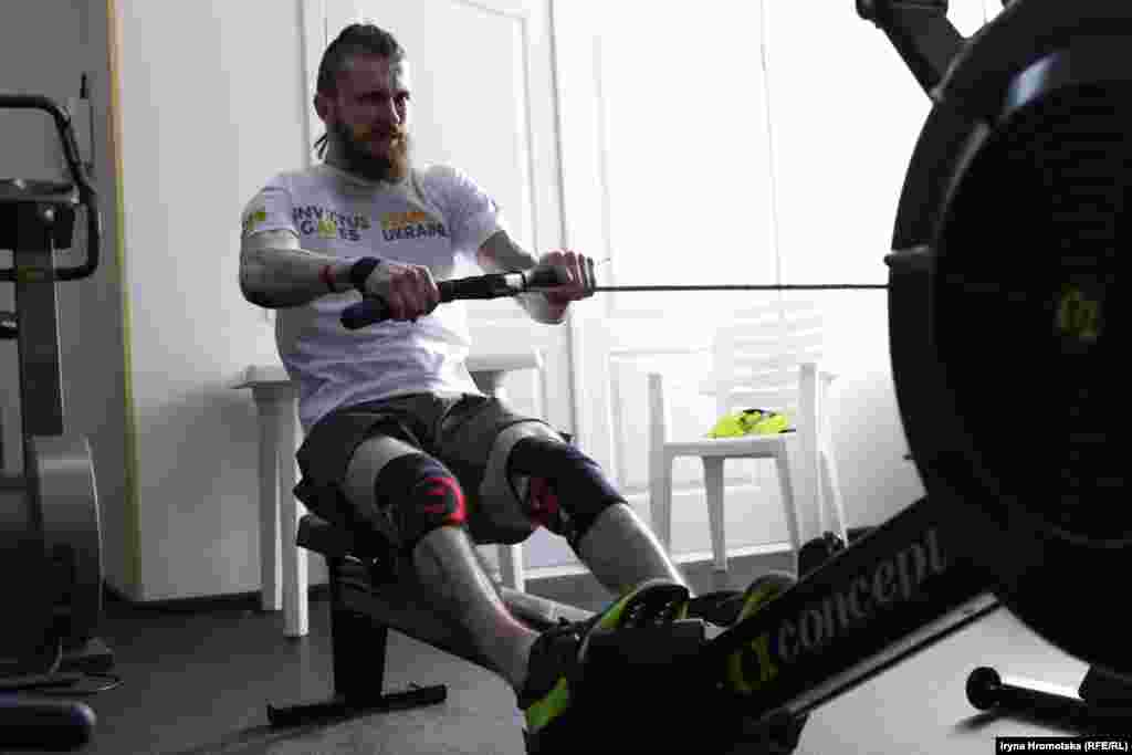 Учасник збірної України на «Іграх нескорених» Ігор Галушка тренується на олімпійській базі у Конча-Заспі