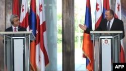 Հայաստանի և Վրաստանի նախագահների համատեղ ասուլիսը Թբիլիսիում, 18-ը հունիսի, 2014թ․