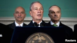 New York City Mayor Michael Bloomberg (center) has been a staunch defender of the city's Muslim immigrant population.