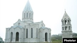 Nagorno-Karabakh -- An Armenian church in Shushi.
