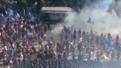 درگیری و انفجار در نزدیکی پارلمان اوکراین