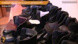 Львівські чоботярі шиють взуття для бійців АТО