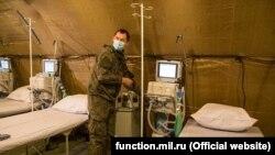 Qırımdaki köçünci gospital, numayış foto