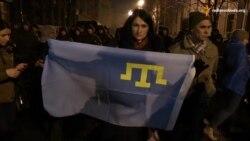 Крымские татары пикетируют возле Администрации президента (видео)