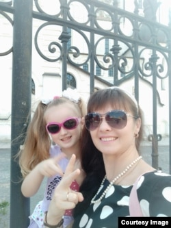 Елена Шпак с дочкой