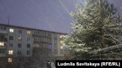 Снегопад в Псковской области