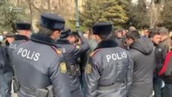Polis Mübariz Məsimova dəstək aksiyasını dağıtdı