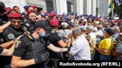 Протестите на полициските ветерани во Киев