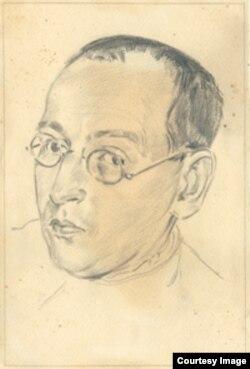 Владимир Дурнякин – рисунок неизвестного автора, сделанный в лагере