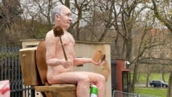 The Russian Bare: Protesters Erect Naked Putin Sculpture To Protest Spike In Ukraine Fighting