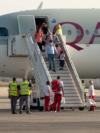 Skoplje, North Macedonia, arrival of Afghans refugees, video grab
