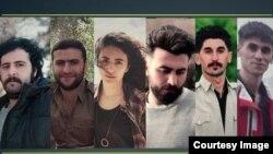 عکسی که شبکه حقوق بشر کردستان از چند تن از بازداشتدگان اخیر منتشر کرده است