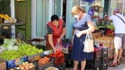 Piața din Cantemir, iulie 2020.