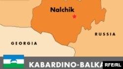Карта Кабардино-Балкарии.