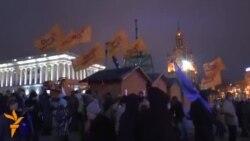 Студенти вигнали з Майдану людей з прапорами «Так Кличко»