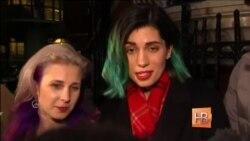 Основатель интернет-портала WiliLeaks встретился в посольстве Эквадора в Лондоне с бывшими участницами панк-группы Pussy Riot