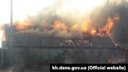 UKRAINE -- Forest fire, Dvorichansky district, September 2, 2020