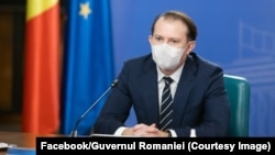 Premierul Florin Cîțu în timpul unei ședințe de guvern
