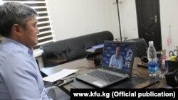 Президент Федерации футбола Кыргызстана Канат Маматов участвует в онлайн-конференции, организованной для футбольных федераций шести азиатских стран.