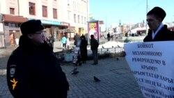 Татар активистлары Кырымга теләктәшлек күрсәтте