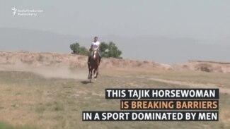 'She Pulls Goats Like A Man': Tajik Buzkashi Player Shatters Stereotypes