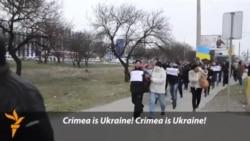 Demonstranti blokirali ukrajinsku TV na Krimu
