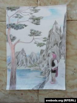 یکی از نقاشی های آناستازیا پروشوشچیکووا ، که او در حالی که در زندان بود ساخته است.