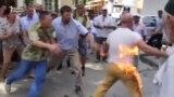 Қырым татары өзіне өрт қойды