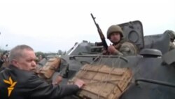 Villagers Confront Ukrainian Troops Near Slovyansk