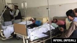 زخمیهای حمله بر موتر حامل استادان و دانشجویان پوهنتون البیرونی