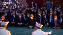 İstanbul: Ayasofyada soñki 86 yılda ilk sefer cuma namazı qılındı (video)