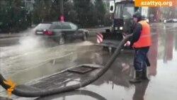Проливные дожди в Уральске