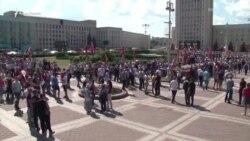 Два митинга на одной площади – сторонники и противники Лукашенко собрались в Минске (видео)