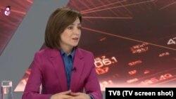 претседателката на Молдавија Маја Санду