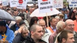 Radnički marš kroz Sarajevo