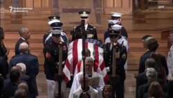 Daughter, Former Presidents Rebuke Trump At McCain's Funeral