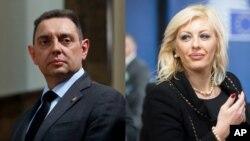 Razmena različitih mišljenja u Vladi Srbije: Ministar unutrašnjih poslova Aleksandar Vulin i ministarka za evrointegracije Jadranka Joksimović