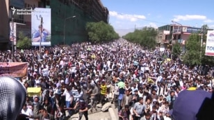 WATCH: Hazaras Hold Mass Protest In Kabul Over Electricity Project