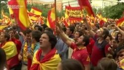 Madrid Demonstrators Chant 'Catalonia Is Spain!'