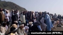 Residents of the Janikhel area launched a sit-in protest more than three weeks ago after tribal elder Malik Naseeb Khan was killed.