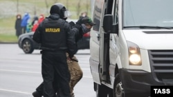 At least a dozen people were detained on July 14 in raids targeting at least 19 NGOs in Minsk and other cities. (file photo)