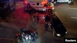 Полиция и медици на мястото на инцидента