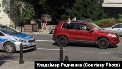 Аўтамабіль Уладзімера Родчанкі ў Польшчы