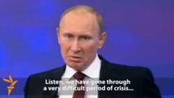 Putin Addresses Public On Live TV Show (English subtitles)