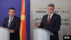 Премиерот на Северна Македонија Зоран Заев и бугарскиот премиер Стефан Јанев во Софија.