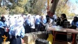 مخيم كشفي للبنات في مدينة بابل الأثرية